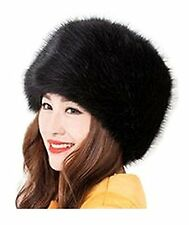 Women/ladies Winter Hat Faux Fur Cossak Russian Style Hat black