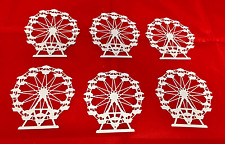 Ferris Wheel Die Cuts * Carnival Fun * White Cardstock * 6 Ferris Wheels!