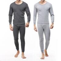 Men's 2-Piece Thermal Underwear Set Long Johns Waffle Knit Stay Warm M L XL XXL^