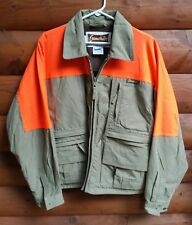 VTG Gamehide Hunting Jacket Camo Blaze Orange Weighted Front Multi Pockets EUC M