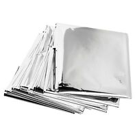 4 X Emergency Foil Thermal Blanket Sheet Poncho Silver, Survival, Mylar, Camping