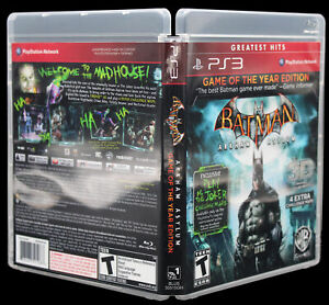Batman Arkham Asylum PS3 PlayStation 3 Replacement Game Case & Cover Art NO GAME
