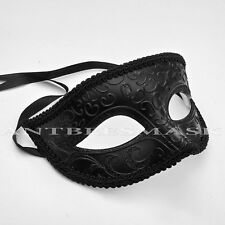 Black Well-Made Venetian Theater Glitter Eye Classic Mask