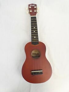 Ukulele Stagg Soprano with 4 Spare Strings, Brown satin finish in carry bag