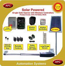 24V Heavy Duty Solar Powered Single Gate Opener Wireless Controller Kit