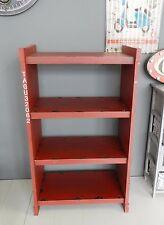 Libreria scaffale vintage industriale legno container rosso