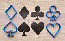 Poker heart spade diamond club cookie fondant cutter UK Seller