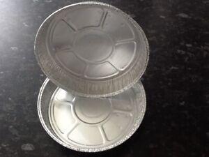 "50 x 6"" Round Aluminium Tin Foil Dish Baking Pie Quiche Tart Tray NO HOLES"