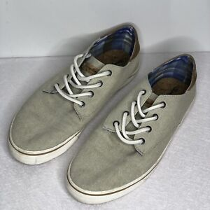 Tommy Bahama Mens Canvas Lace Up Shoes Beige Size 11 D Beach Casual Walking