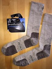 SmartWool OUTDOOR SPORT Light Crew Socks – Oatmeal, Hike Trek Backpack – Men XL