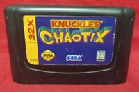 Knuckles Chaotix - Sega 32X Genesis Sega Rare Tested Working Rare Game