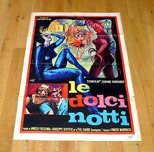 LE DOLCI NOTTI poster manifesto Vinicio Marinucci Spogliarello Show Girl