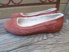 CROCS Burnt Orange Suede Faux Fur Lined Ballet Flats Women's  7