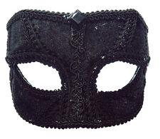Disfraz # Accesorio Atuendo Terciopelo Negro Antifaz Veneciano Carnaval