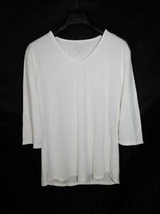Segments XL Cream White T Shirt 3/4 Sleeve V Neck Seg'ments Tencel Modal Soft