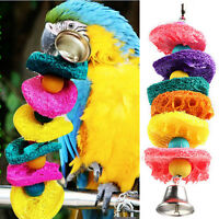 Hot Colorful Bird Parrot Cage Toys Natural Loofah Handmade Bite-resistant Toys