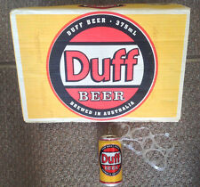 DUFF Beer! Cardboard Case and One Can w/ Six Pack Rings THE SIMPSONS