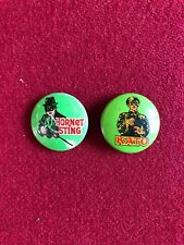 "1966, Green Hornet, ""Gum Ball Machine Pins"" (Set of 2)  Scarce  (Bruce Lee)"