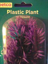 Petco Aquatic decorative Plastic Plant Fish Tank Aquarium NEW Purple