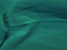 HEAVYWEIGHT BRUSHED  TWILL -GREEN -FASHION/CRAFT FABRIC-FREE P&P
