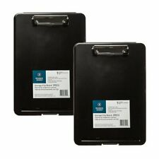2 in 1 Durable & Portable Letter-Sized Paper Storage Case & Clipboard (2 Pack)