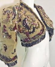 BALENCIAGA 1947 couture applique beaded matador jacket rare historic vintage