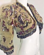 BALENCIAGA 1947 couture applique beaded matador jacket rare historic vintage