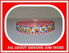 7/8 INCH EMOJI CHRISTMAS  GROSGRAIN RIBBON - 1 YARD