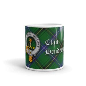 Henderson Clan Crest Coffee / Tea Mug - Scottish Cup 10oz / 295ml