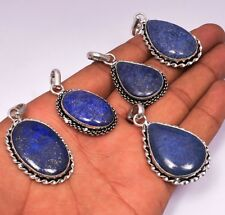 Lapis Lazuli Pendant Wholesale Lots 1pcs 925 Sterling Silver Overlay Pendants