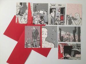 COLMAN SOUVENIR DE WHITE / PORTFOLIO 8 CARTE POSTALE / BD MAGIC-STRIP