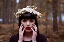 Cream White Rose Flower Hair Crown Headband Festival Garland Headpiece Hair s37