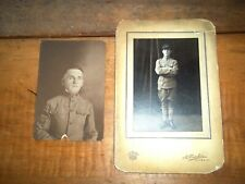 2 Spanish American War Photos Original Soldier In Uniform 1898-1902 Militaria