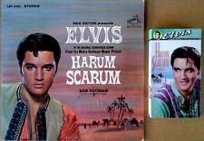 "ELVIS PRESLEY - HARUM SCARUM - LP SOUNDTRACK + SEALED ""HARUM SCARUM"" VHS TAPE"