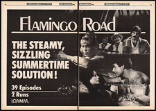FLAMINGO ROAD__Original 1985 Cannes Trade AD_poster__MARK HARMON_CRISTINA RAINES