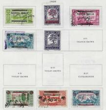 8 Lebanon Stamps from Quality Old Antique Album 1928