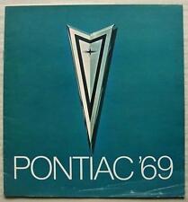 FOLLETO de ventas de Pontiac Gama Usa lf 1969 Firebird Brougham Grand Prix Lemans + +