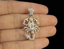 Pendant Necklace 14k Yellow Gold Plated Men's Sim Diamond Scorpio Zodiac Charm