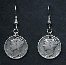 Mercury Dime Silver Earrings 90% Silver 10C Coins