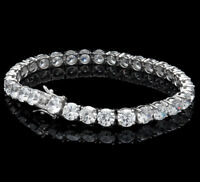 "26.00TCW Round Cut Created Diamond 8"" Tennis Bracelet 925 Sterling Silver 6mm"