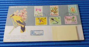 1963 State of Singapore Official First Day Cover New Definitive Bird & Orchid 02