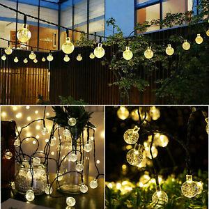 Solar Powered 60LED String Light Garden Path Yard Decors Waterproof Lamp Outdoor