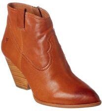Frye Reina Bootie Leather Western Women's 10 Med Cognac 3479257 Cowboy BOOTS