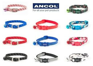 Quality Ancol cat collars:Camouflage,Reflective or Soft weave. Mix,match,save 💕