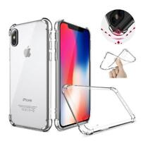 For Apple iPhone X 8 7 6 6s Plus 5s SE Clear Gel TPU Shockproof Back Case Cover