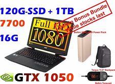 """Acer Aspire Gaming VX15 VX5-591G Corei7-7700HQ 16GB 120GB SSD+1TB 15.6"""" GTX1050"""