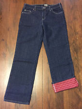 Women's Flannel Lined Dickies Jeans NWT Size 12 Regular Winter Clothing Warm