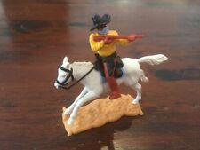 "Timpo Masked Bandit Mounted - Black ""Ten Gallon"" Bandit Hat - Wild West"