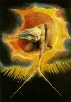 """William Blake """"The Ancient of Days""""  Symbolism Biblical Art Real Canvas Print"""