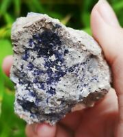 STUNNING   BLUE JOHN FLUORITE MATRIX SPECIMEN. CASTLETON DERBYSHIRE ENGLAND.
